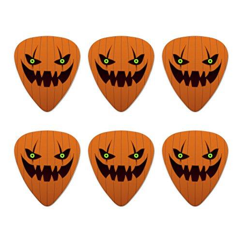 bis Gesicht Halloween Dekoration Neuheit Gitarre Plektrum Plektron Picks Stärke Medium–Set of 6 (Gesichter Für Halloween-kürbis)