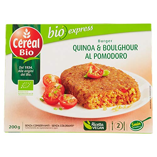 Céréal Bio Burger Quinoa e Boulghour al Pomodoro Bio - Pacco da 2 x 200 G