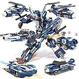 AOTE-D Verformung Police City Guard Kombination 6 Stück Montage Spielzeug Hubschrauber Rettungswagen Explosionsgeschützte Auto Spielzeug Geschenk Spielzeugautos Spielzeugauto