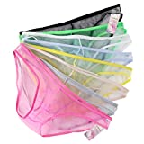 Sexy Men's Lingerie Bikini Briefs Underwear Mesh Low Rise Shorts Panties Pack of 8