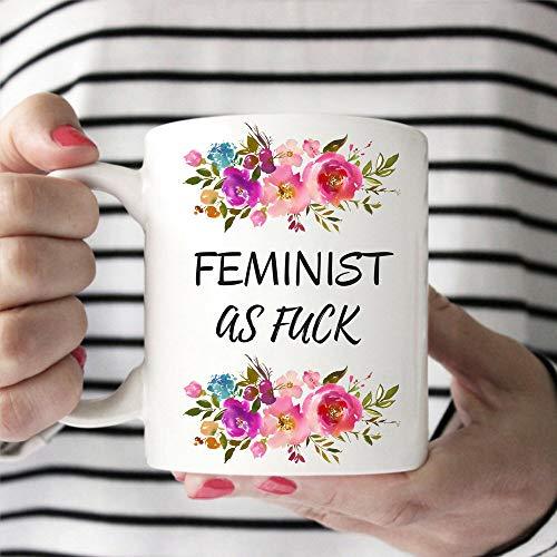 Femeninista Af Feminist taza de café divertida y femenina taza de regalo para feministas y feministas idea de regalo