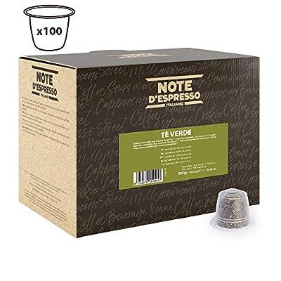 Note d'Espresso - Lot de 100 capsules de thé vert, 100x3g