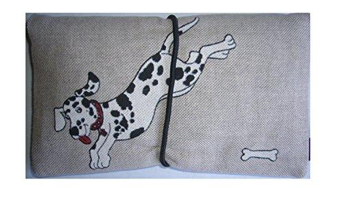 Büroteuse Tabaktasche / Drehertasche im Dalmatiner-Design, jede Tasche ein Unikat! Dalmatiner