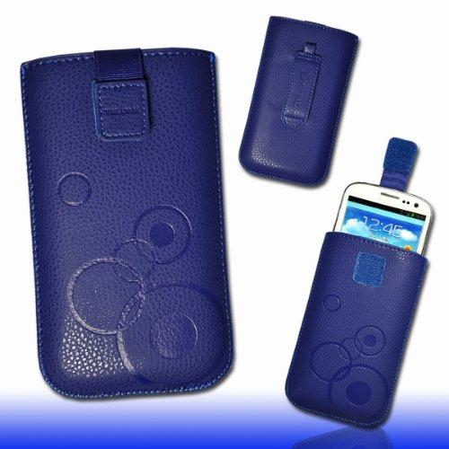 Case Handy Blau Lg L1 (Handy Tasche Etui Hülle Case Kunstleder blau circle M36 Gr.3 für HTC Desire 200 / Acer Liquid Z3 / Nokia Lumia 620 / LG Optimus L1 II E410 / Samsung Galaxy Young S6310 / Galaxy Young Duos S6312 / Samsung Rex 70 S3802 / Rex 90 S5292)