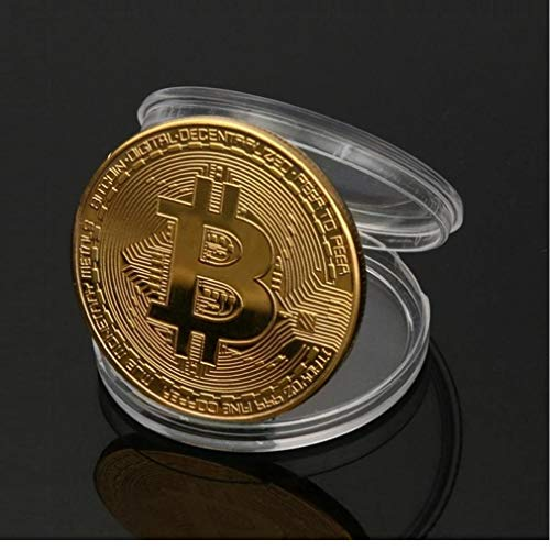 Descripción:Material: hierro chapado en oroDiámetro: 38 mm (referencia un yuan moneda de diámetro: 25 mm)Espesor: 3mmColor: OroCantidad: 1 unidadestilo al azarEl paquete incluye:1 x Coin Bitcoin