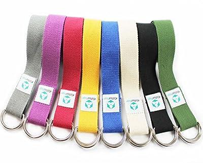 Yogagurt »MadiraÂ« / Yoga-Belt Gurt 100% Baumwolle mit stabilem Metall-Ring-Verschluss / 250 x 3,8cm / in verschiedenen Farben erhältlich