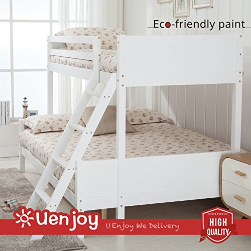uenjoy-white-children-bunk-beds-triple-bed-frames-3ft-4ft-pinewood-fabric-finish