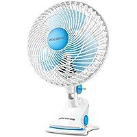 Ventilador de mesa / mini ventilador silencioso / ventilador de escritorio doméstico / dormitorio de estudiante pequeño ventilador de clip / azul alto ventilador de escritorio de 34 cm