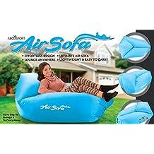 Hinchable Lounge bolsa hamaca aire sofá y piscina flotador–Material de paracaídas–ideal para interior o exterior para camping senderismo–Lazy cama, azul celeste