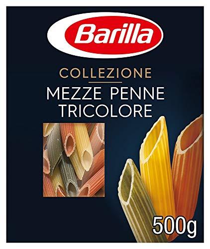 Barilla Hartweizen Pasta Collezione Mezze Penne Tricolore, 1er Pack (1 x 500 g) - 1 Pack Tri-color