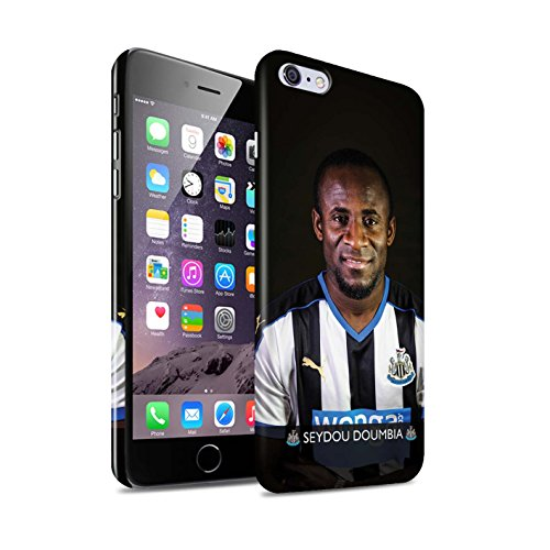 Officiel Newcastle United FC Coque / Clipser Brillant Etui pour Apple iPhone 6S+/Plus / Pack 25pcs Design / NUFC Joueur Football 15/16 Collection Doumbia