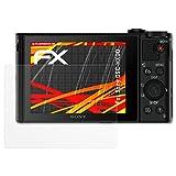 atFoliX Folie für Sony DSC-HX90 Displayschutzfolie - 3 x FX-Antireflex-HD hochauflösende entspiegelnde Schutzfolie
