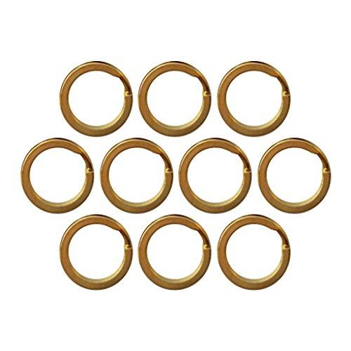 Sharplace 10pcs Schlüsselringe 15-32mm Schlüsselring Messing Gold Edelstahl - 25 mm