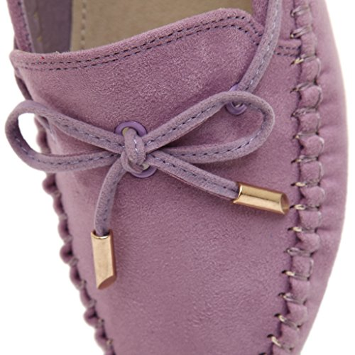 Fortunings Jds Bean Shoes Mocasines En Mocasines De Ante De Cuero Para Mujer Purple