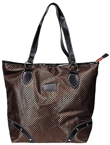 Akzent Damen Schultertasche Textilstoff Shopper Handtasche Einkaufen Kurztrip 44x36x20 cm - 3600035 braun