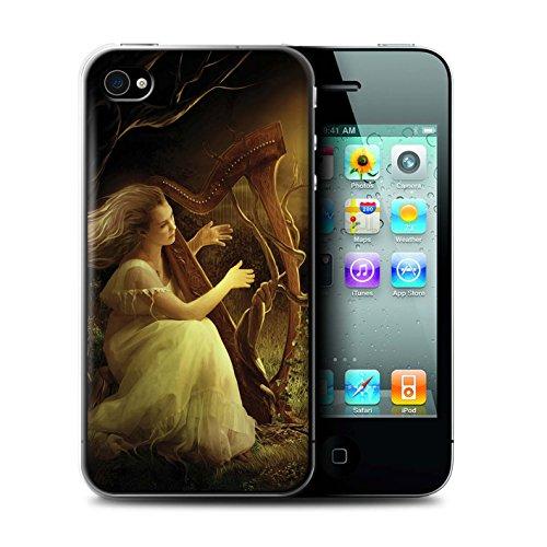 Officiel Elena Dudina Coque / Etui pour Apple iPhone 4/4S / Violoncelle/Nuages Design / Réconfort Musique Collection Mélodie du Silence