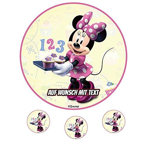 tstag Tortenbild Zuckerbild Oblate Motiv: Disney Minnie Maus 12 (Zuckerpapier) ()