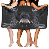 IGENERAL Animal Black Panther Head Unisex Fashion Towel Personalized Print Beach Towels