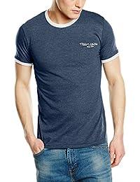 Teddy Smith Men's Plain or unicolor Round Collar Short Sleeve T-Shirt