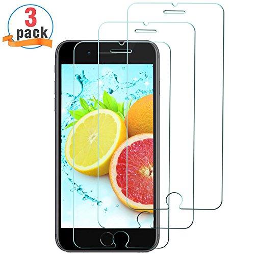 [3 Stück] Panzerglas Schutzfolie für iPhone 8, HANBEEPanzerglasfolie für iPhone 8, Anti-Öl & Fingerabdruck, 9H Härtegrad, HD Ultra-klar, Anti-Kratzer, 3D Touch Kompatibel (4.7 Zoll)