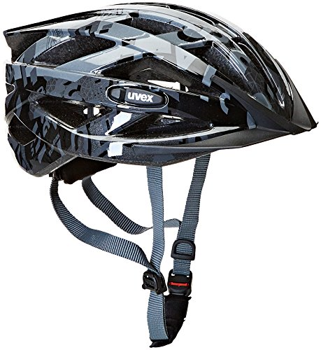 Uvex Unisex - Kinder Helm Air Wing, Dark Silver-Black, 52-57, 4144261115