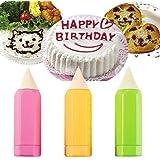 preadvisor (TM) creative1PC Cake pintura lápiz de escritura de alimentos Onigiri Molde para galletas Sauce Decoración Hornear DIY