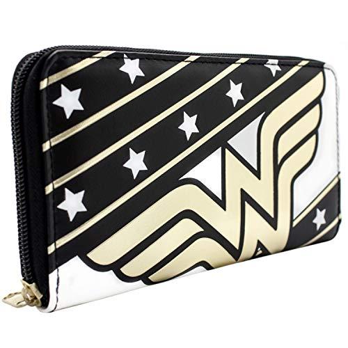 Wonder Woman Stars & Stripes Schwarz Portemonnaie Geldbörse