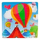 Vovotrade Juguetes de madera 16 piezas Jigsaw para niños Educación y aprendizaje Puzzles Juguetes (D)