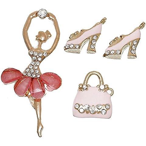Sexy Sparkles da donna 4misti ciondoli ballerina, tacco e borsa a mano per bracciali o collana