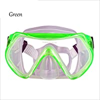 Gafas De Buceo Tubo De RespiracióN Traje De Bucear Para Estudiantes Adultos Completamente Seco , green , A