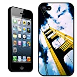 Fancy A Snuggle Golden Gate Bridge California Coque arrière rigide pour iPhone 5 Motif Golden Bridge