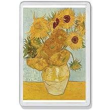 AWS Cadre aimant en PVC les tournesols de vincent van gogh Sunflowers aimant frigo frigor souvenir Fridge Magnet Aimant de frigo en plastique dure avec image photo aimant en PVC rigide