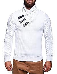 MT Styles pull en tricot avec col châle M-1011