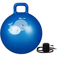 PIKFOS Inflatable Hopper Ball for Kids ( Hip-Pity Hop Ball, Hopping Ball, Bouncy Ball with Handles, Sit & Bounce…