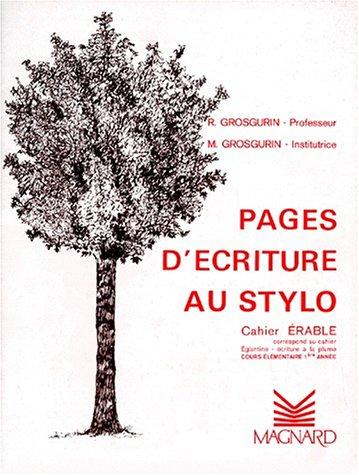 Cahier stylos-bille: Érable CE1