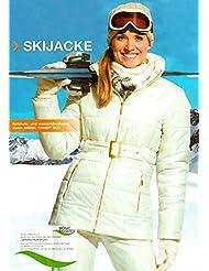 Mujer Chaqueta de esquí Talla 42Color: Beige Nieve Chaqueta Chaqueta de invierno