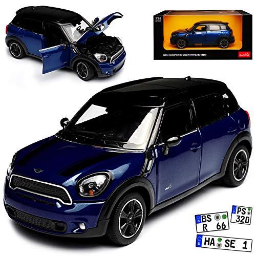 Custom Velour Car Mats to fit Mini R60 Countryman Velcro Fixing 2010-2016