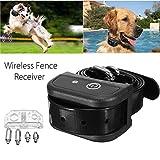 Generic Wireless Dog Zaun Kragen wasserdicht Empfänger Training Containment System schwarz