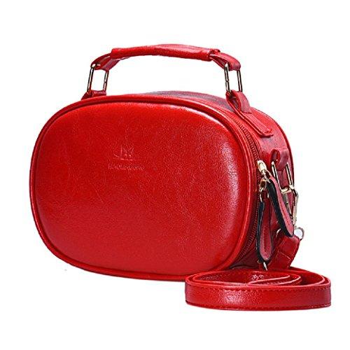 Fami Mode féminine Vintage de luxe Sacs à main en cuir Messenger Rouge