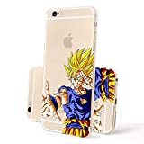 FINOO   Iphone 6 / 6S Hardcase Handy-Hülle  Transparente Hart-Back Cover Schale mit Motiv Muster  Tasche Case mit Ultra Slim Rundum-schutz  stoßfestes dünnes Bumper Etui  Son Goku sagt Tschüß