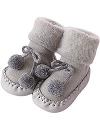 Calcetines Antideslizante Bebe Invierno K-youth Calcetines para Bebé Niñas Niños 0-24 Meses