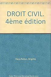 DROIT CIVIL. 4ème édition