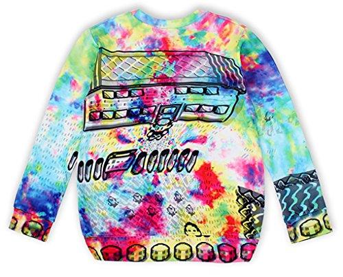 Thenice - Sweat-shirt spécial grossesse - Imprimé Animal - Col Rond - Femme Taille Unique house
