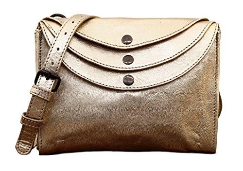 LA MINAUDIÈRE Gold Handtasche Vintage-Stil aus Leder Damentasche PAUL MARIUS (Gold Handtasche Französisch)