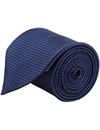 MODO Men's Polyester Geometric Tie (186T, Blue, Free Size)