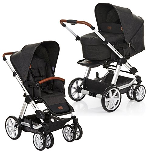 ABC Design Turbo 6 - Kombikinderwagen - Komplett-Set 2in1 - inkl. Babywanne & Sportwagen (Piano)