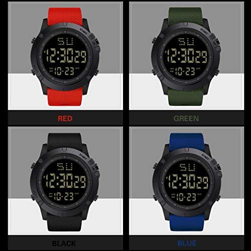 Moda Hombres LED Fecha Digital Deporte Militar Reloj de Cuarzo de Goma Alarma Impermeable