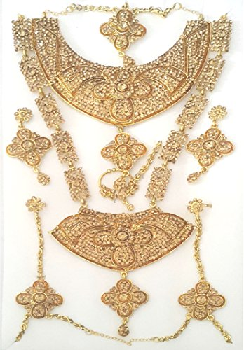 Nmj Gold Plated Artificial Bridal Jewellery Set For Women