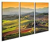 islandburner Bild Bilder auf Leinwand Toskana V5 Italien Landschaft 3p XXL Poster Leinwandbild Wandbild Dekoartikel Wohnzimmer Marke