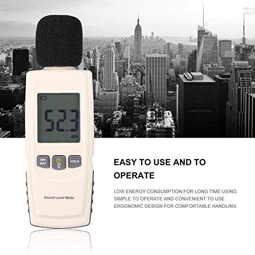 taux de r/éponse rapide et lente VLIKE sonom/ètre avec mode A//C port/ée de mesure de 30 /à 130 dB compteur de niveau de bruit portable pour diff/érents environnements Decibel M/ètre